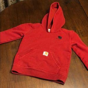 Boys carhartt hoodie size 5